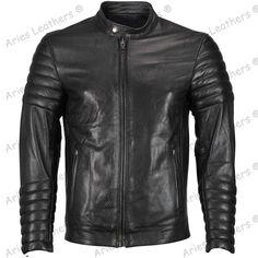 New Men's Genuine Lambskin Leather Jacket Black Slim fit Motorcycle Biker Jacket Lambskin Leather Jacket, Leather Men, Leather Jackets, Cowhide Leather, Black Leather, Leather Fashion, Real Leather, Cool Jackets For Men, Revival Clothing