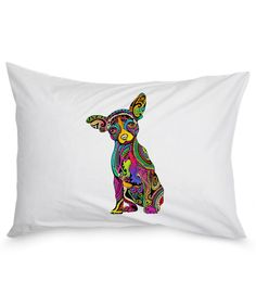Colorful Chihuahua Pillow Case colorfulpillowcase