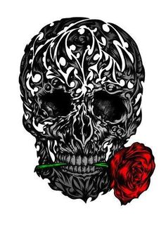 Skull! this would be an cool idea for a tattoo!