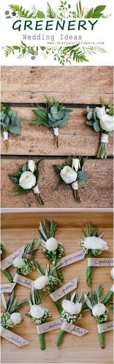 Greenery wedding flowers boutonniere ideas #weddings #greenwedding #weddingbouquets #weddingideas #weddingflowers #weddinginspiration #dpf #deerpearlflowers / www.deerpearlflow...