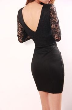 Sexy V-necklined Low-cut Lace Bodice Long-sleeve Dress V Cuts, Lace Bodice, Dresses With Sleeves, Fancy, Formal Dresses, Long Sleeve, Sexy, Fashion, Dresses For Formal