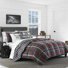 Purchase Eddie Bauer Willow Plaid Whistler Ridge Polyester Reversible Comforter Set, Twin, Dark Grey from RenewGoo on OpenSky. Share and compare all Home. Plaid Comforter, Grey Comforter Sets, King Comforter, Bedding Sets, Queen Bedding, Bedspread, Red Bedding, Eddie Bauer, Whistler