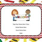 This power point has cute crayon paper with a red chevron outlining the power point.   You can delete the pages you do not want to use. There is al...