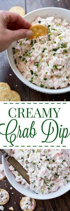 Creamy crab dip recipe with a hint of jalapenos, peppers, and celery. So easy an… Creamy crab dip recipe with a hint of jalapenos, peppers, and celery. So easy and so good to serve at parties. Creamy Crab Dip Recipe, Crab Dip Recipes, Seafood Recipes, Appetizer Recipes, Cooking Recipes, Healthy Recipes, Seafood Dip, Seafood Appetizers, Canned Crab Recipes