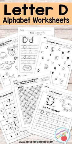Free Printable Letter D Worksheets - Alphabet Worksheets Series