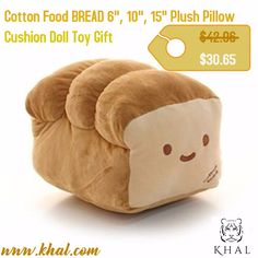 "BREAD 6"", 10"", 15"" #Plush #Pillow #Cushion #Doll Toy Gift #Home #Bed #Room #Interior-Decoration Girl #Child Gift #Cute Kawaii by Cupid Gift Shop (10 inches) by #Cotton Food  https://www.khal.com/products/bread-6-10-15-plush-pillow-cushion-doll-toy-gift-home-bed-room-interior-decoration-girl-child-gift-cute-kawaii-by-cupid-gift-shop-10-inches-by-cotton-food  #khal #khal.com #Summer offer #Deals #online shopping #shopping #Toys #cushin #Gift"
