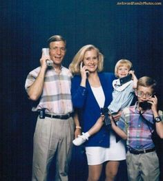 80's phone family.. they thought they were so cool..