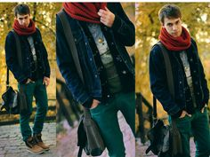 You can never have enough layers in my opinion. Love the coloured denim for Spring #trending