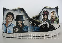 Motley Crue/Custom/converse/hand painted by SUNFORESTSEA on Etsy, $130.00