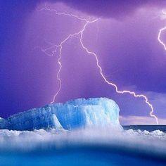 Lightening meet iceberg...iceberg meet lightening