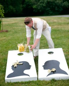 Make, buy, or borrow? Want them painted wedding themed...