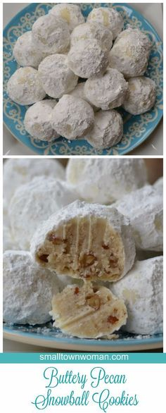 Buttery Pecan Snowball Cookies aka wedding cookies or Russian Tea Cakes make for a perfect traditional Christmas cookie.
