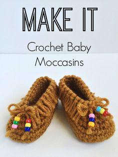 Crochet Baby Moccasins - Tutorial ❥ 4U hilariafina  http://www.pinterest.com/hilariafina/