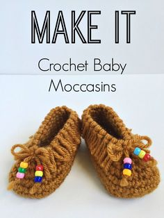 Crochet Baby Moccasins! So cute! FREE PATTERN