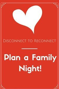 Lets Plan a Family Game Night!    Family time is a very special way to reset from all of the distractions around us.  It is important to be together and reconnect... Make being together as family a priority! Put aside our troubles and differences, lets just get together and have fun! Laugh, Love, and Just Be Together!