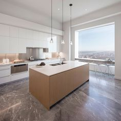 Jennifer Lopez and Alex Rodriguez are 432 Park Avenue's newest celebrity residents - Curbed NY 432 Park Avenue, Park Avenue Apartment, New York City Apartment, Apartment Therapy, Jennifer Lopez, Alex Rodriguez, Home Decor Kitchen, Kitchen And Bath, Condo Kitchen