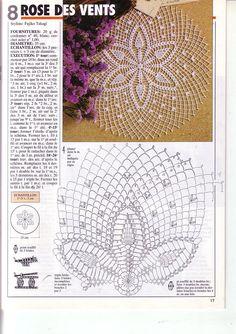Ideas Crochet Mandala Diagram Lace Doilies For 2019 Crochet Mittens, Crochet Pillow, Crochet Books, Crochet Baby Hats, Crochet Home, Thread Crochet, Crochet Doily Diagram, Crochet Doily Patterns, Crochet Motif