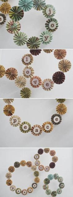 pinwheel wreaths = adorable, right?