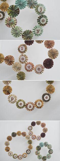 pinwheel wreaths = adorable, right?