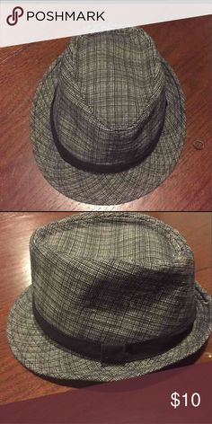 Fedora Black and gray fedora Accessories Hats