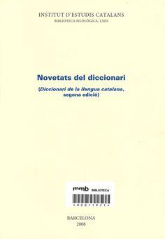 Novetats del diccionari