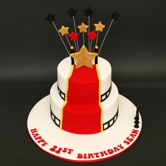 Hollywood Red Carpet Cake