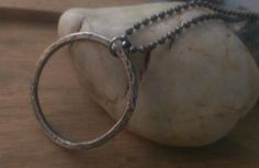 Sterling Silver Necklace Rustic Mens Unisex by kimforrerdesigns, $52.00