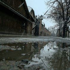 """--- Photo by @brettmasonnews --- Auschwitz I. The main gate to the camp which was created by German Nazis in spring 1940 as a concentration camp for Poles part of the occupation terror system which later developed into a huge system of camps with different groups of prisoners (i.a. Soviet POWs and Roma) and which was turned at the same time into an industrial extermination center with gas chambers and crematories designed to murder European Jews. Original caption: """"Those who do not remember…"""