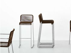 High polyester stool ARIA | High stool - Lapalma