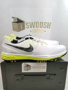 7fb36aec0037 Nike Lunar Control 3 Mens Golf Shoes 704665-102 White Black Volt Size 10.5