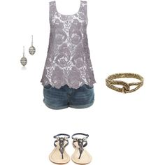pretty jean shorts outfit ~ like this top