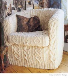 A sweater chair! Yes please!