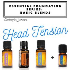 My essential foundation series is a great way to learn how to use DoTERRA's top 10 oils as part of your daily routine. These oils are my go-to for temporary muscle and head tension.  I apply a drop of Lavender and Peppermint diluted with fractionated coconut oil (FCO) to my fingertips and massage into my temples. I place a drop of Frankincense on my thumb and hold it on the roof of my mouth for about 5-10 seconds. Then, I massage in a drop of Deep Blue or Frankincense with a few drops of…