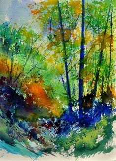 watercolor 217003, painting by artist ledent pol