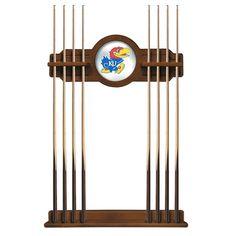 Kansas Jayhawks Eight Stick Pool Cue Rack - Chardonnay - $199.99