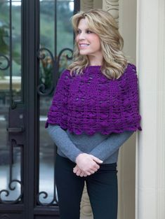3 Skein Crochet Poncho: #free #crochet #pattern