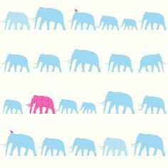 Esta Home Giggle 137329 vaaleansiniset norsut - Leluhuone