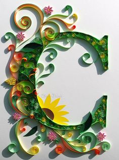 "Quilled ""C""  Final Major Project: An interpretation of contemporary illumination"