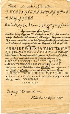 Thomas Jefferson Codex. From the late 1800s. Thomas Jefferson was an avid code-writer among other talents. Ancient Runes, Ancient Scripts, Ancient Alphabets, Rune Stones, Oak Island, Ancient Vikings, Secret Code, Thomas Jefferson, Writing Styles