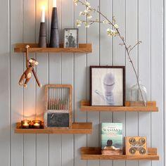 Hylle Harvard 50 cm 2 stk - Hyllemakeriet Floating Shelves, 50th, Living Room, Home Decor, Design, Stove, Decor Ideas, November, Pictures