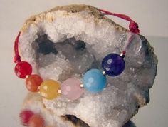Seven chakras bracelet, Healing energy jewelry. Solid gold | RitaSunderland.com #meditation