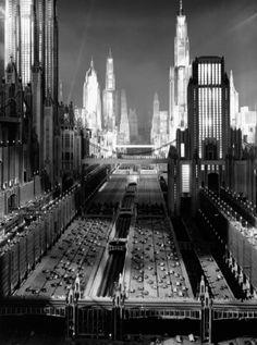 1930s imagining of 1980s New York in the sci-fi musical Just Imagine (1930, dir. David Butler).