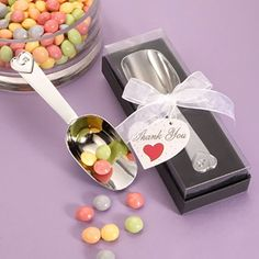 Candy Scoop Favors for Candy buffet or adult birthday, Bar/Bat Mitzvah, Teen Birthday, Quincinera, Baby Shower, Bridal Shower, Engagement party or more (($))