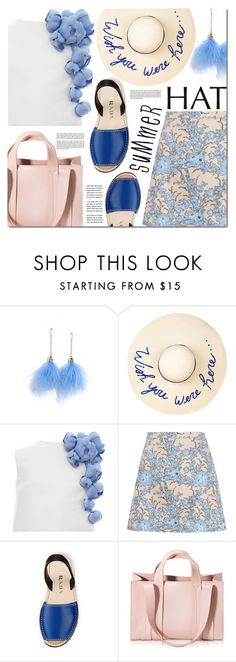 """Top It Off: Summer Hats"" by barbarela11 ❤ liked on Polyvore featuring LULUS, Eugenia Kim, Esme Vie, Zimmermann, Prada and Corto Moltedo"