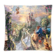 Vintage Amazing Beauty And the Beast Comfor Print Two Side Cover Soft Pillowcase