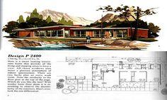 mid century house designs