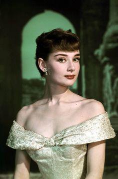 The ever beautiful Audrey Hepburn in Edith Head