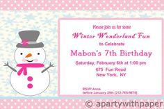 Winter Wonderland Winter Wonderland Birthday by APartyWithPaper, $18.00