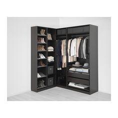 PAX Corner wardrobe, black-brown, Nexus Vikedal Nexus black-brown black-brown 160/188x236 cm