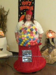Coolest Homemade Gumball Machine Costume… Coolest Halloween Costume Contest
